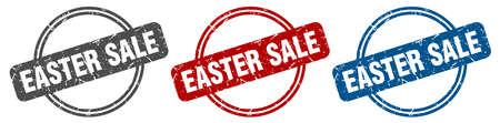easter sale stamp. easter sale sign. easter sale label set