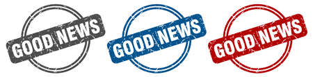 good news stamp. good news sign. good news label set