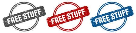 free stuff stamp. free stuff sign. free stuff label set Иллюстрация