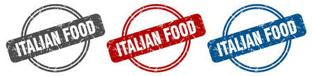 italian food stamp. italian food sign. italian food label set