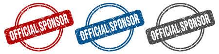 official sponsor stamp. official sponsor sign. official sponsor label set