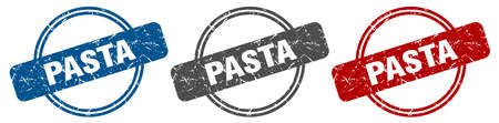 pasta stamp. pasta sign. pasta label set 向量圖像