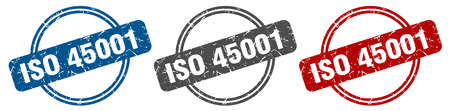 iso 45001 stamp. iso 45001 sign. iso 45001 label set