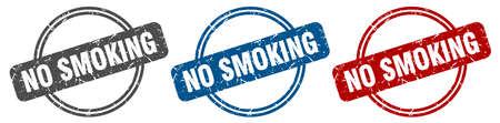no smoking stamp. no smoking sign. no smoking label set