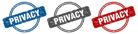 privacy stamp. privacy sign. privacy label set