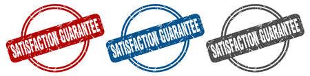 satisfaction guarantee stamp. satisfaction guarantee sign. satisfaction guarantee label set