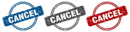 cancel stamp. cancel sign. cancel label set