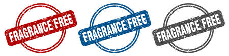 fragrance free stamp. fragrance free sign. fragrance free label set Иллюстрация