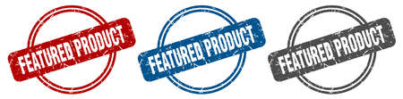 featured product stamp. featured product sign. featured product label set Ilustrace
