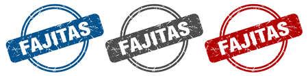 fajitas stamp. fajitas sign. fajitas label set 스톡 콘텐츠 - 151153387