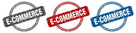 e-commerce stamp. e-commerce sign. e-commerce label set