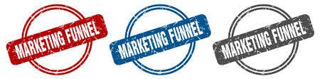 marketing funnel stamp. marketing funnel sign. marketing funnel label set