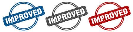 improved stamp. improved sign. improved label set Reklamní fotografie - 151153476