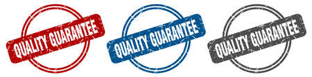 quality guarantee stamp. quality guarantee sign. quality guarantee label set