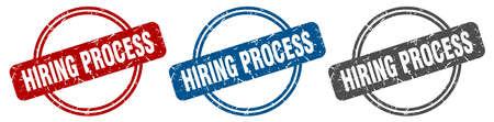 hiring process stamp. hiring process sign. hiring process label set Reklamní fotografie - 151153509