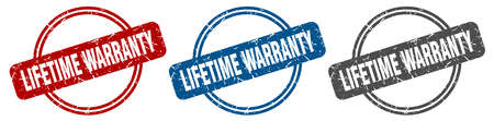 lifetime warranty stamp. lifetime warranty sign. lifetime warranty label set Reklamní fotografie - 151153510