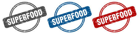 superfood stamp. superfood sign. superfood label set Reklamní fotografie - 151153518