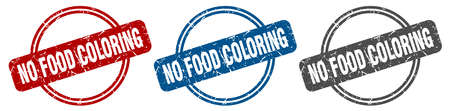 no food coloring stamp. no food coloring sign. no food coloring label set Ilustrace