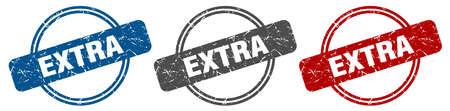 extra stamp. extra sign. extra label set Reklamní fotografie - 151153521