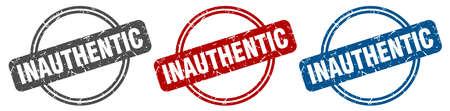 inauthentic stamp. inauthentic sign. inauthentic label set