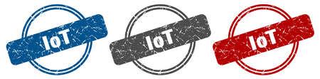 iot stamp. iot sign. iot label set Reklamní fotografie - 151153525