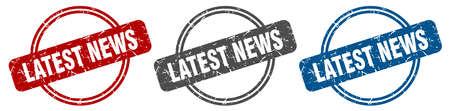 latest news stamp. latest news sign. latest news label set Ilustracja