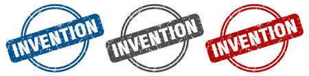 invention stamp. invention sign. invention label set