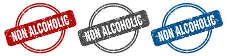non alcoholic stamp. non alcoholic sign. non alcoholic label set