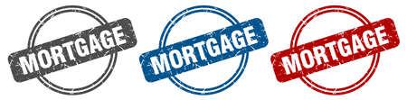 mortgage stamp. mortgage sign. mortgage label set Reklamní fotografie - 151153529