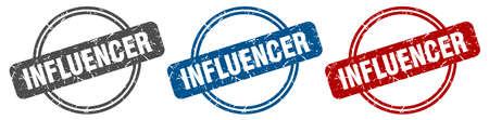 influencer stamp. influencer sign. influencer label set