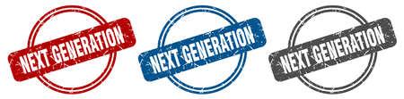 next generation stamp. next generation sign. next generation label set