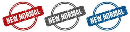 new normal stamp. new normal sign. new normal label set