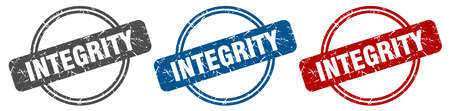 integrity stamp. integrity sign. integrity label set