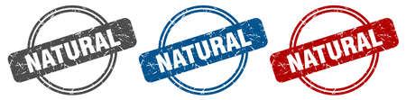 natural stamp. natural sign. natural label set
