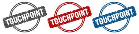 touchpoint stamp. touchpoint sign. touchpoint label set