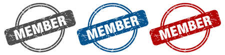 member stamp. member sign. member label set Ilustracja