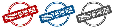 product of the year stamp. product of the year sign. product of the year label set