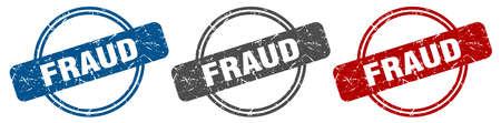 fraud stamp. fraud sign. fraud label set