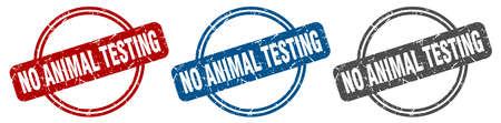 no animal testing stamp. no animal testing sign. no animal testing label set Ilustracja