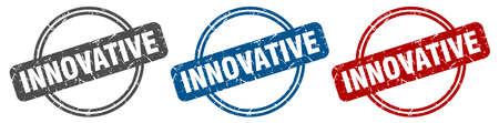 innovative stamp. innovative sign. innovative label set Stockfoto - 151152972
