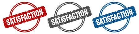 satisfaction stamp. satisfaction sign. satisfaction label set