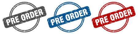 pre order stamp. pre order sign. pre order label set