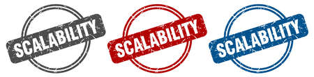 scalability stamp. scalability sign. scalability label set