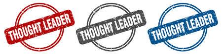 thought leader stamp. thought leader sign. thought leader label set Ilustracja