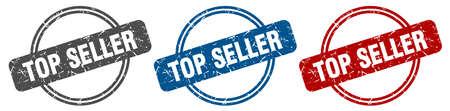 top seller stamp. top seller sign. top seller label set 일러스트