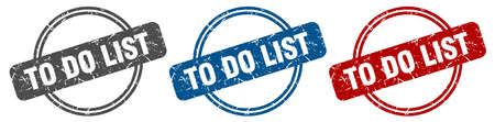 to do list stamp. to do list sign. to do list label set