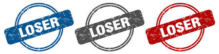 loser stamp. loser sign. loser label set