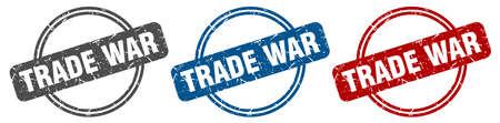 trade war stamp. trade war sign. trade war label set