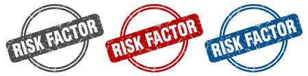 risk factor stamp. risk factor sign. risk factor label set
