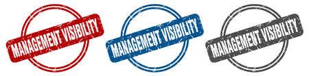 management visibility stamp. management visibility sign. management visibility label set